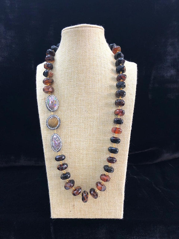 Shades of Brown and Black Precious Necklace