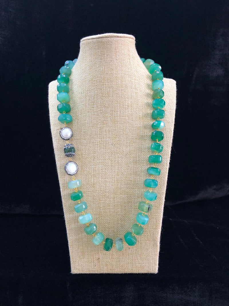 Shades of Green Gemstone Necklace