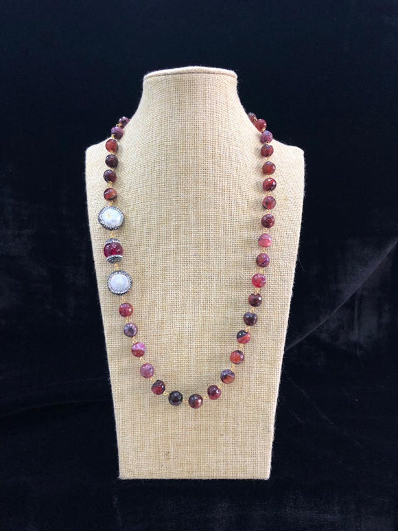 Amazingly Shades of Black and Maroon Necklace