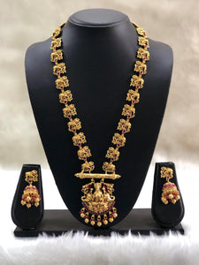 Goddess Laxmi Elephant Necklace Set