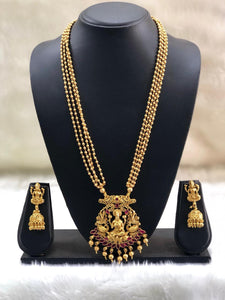 Peacefull Lord Laxshmi Necklace Set