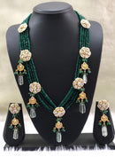 Gorgeous Green Flowered Necklace Set