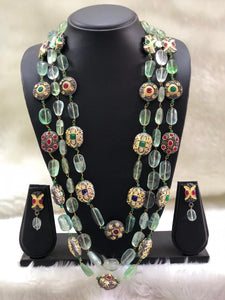 Green Replinesh Seed Necklace Set