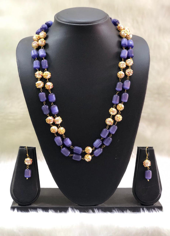 Layered Purple and Gold Beads