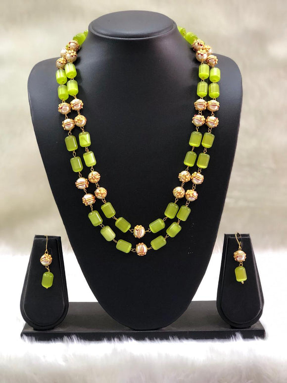 Layered Kindly Green and Gold Beads