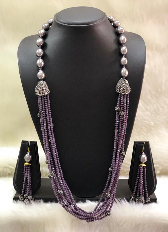 Incrediable Purple Decorative Necklace Set