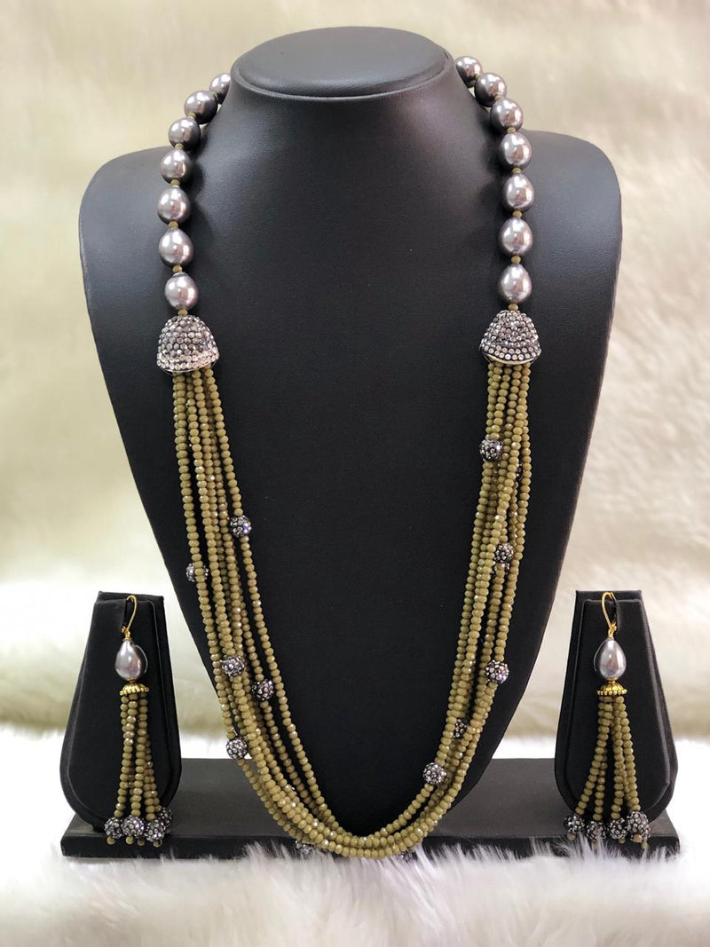 Incrediable Olive Green Decorative Necklace Set