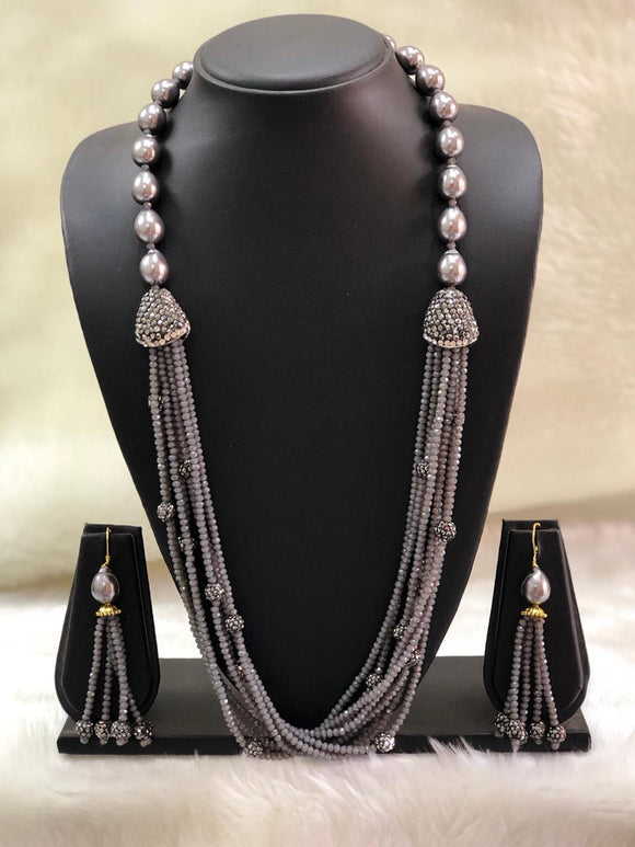 Incrediable Grey Decorative Necklace Set