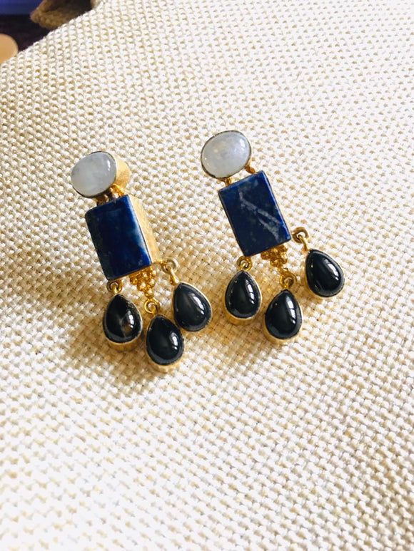 Royal Blue Gemstone Earrings