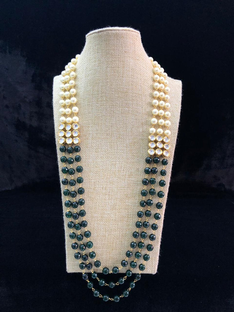 Beautifully Green Pearl Kundan Necklace