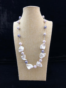 Silver Pearl Mother of Pearl Necklace