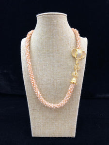 Pearl Threaded Ganpati Centric Necklace