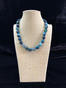 Teal Shades of Gemstone Necklace