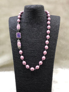 Purple Gemstone Centric Necklace
