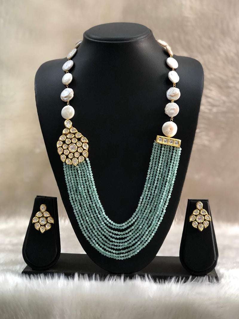 Aspicious Finominal Light Blue Necklace Set