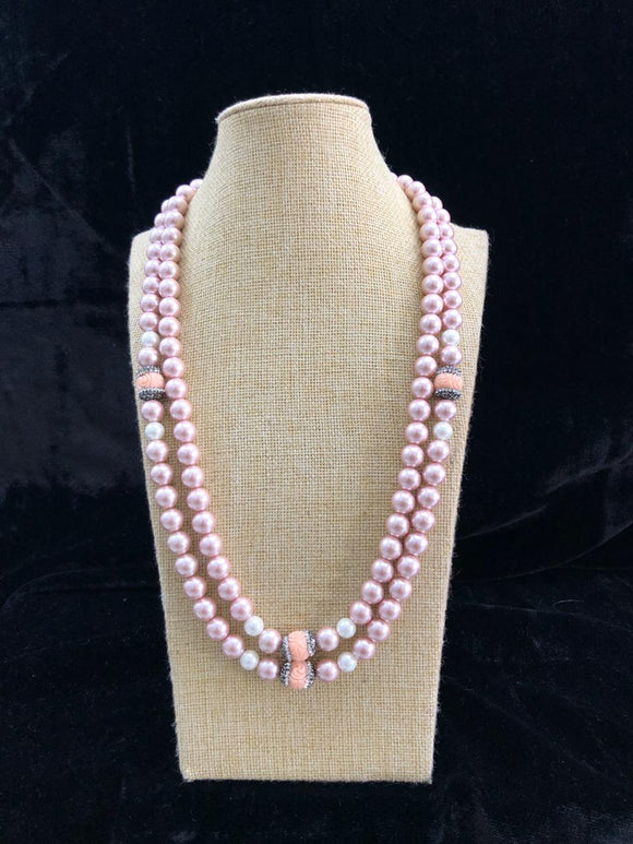 Glamorous Pinky Pearl Necklace