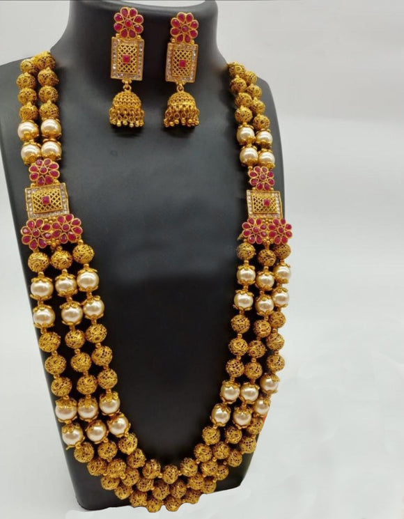 Three line Flawless Hand Carved Ram Necklace Set