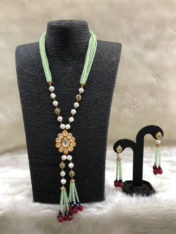Enabling Kundan Floral Beaded Necklace Set