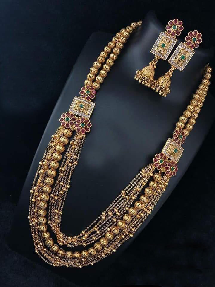 Incrediable Richness Gold Plated  Necklace Set