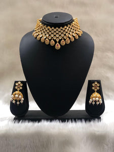Flurry Much Beautifully Black Crafted Necklace Set