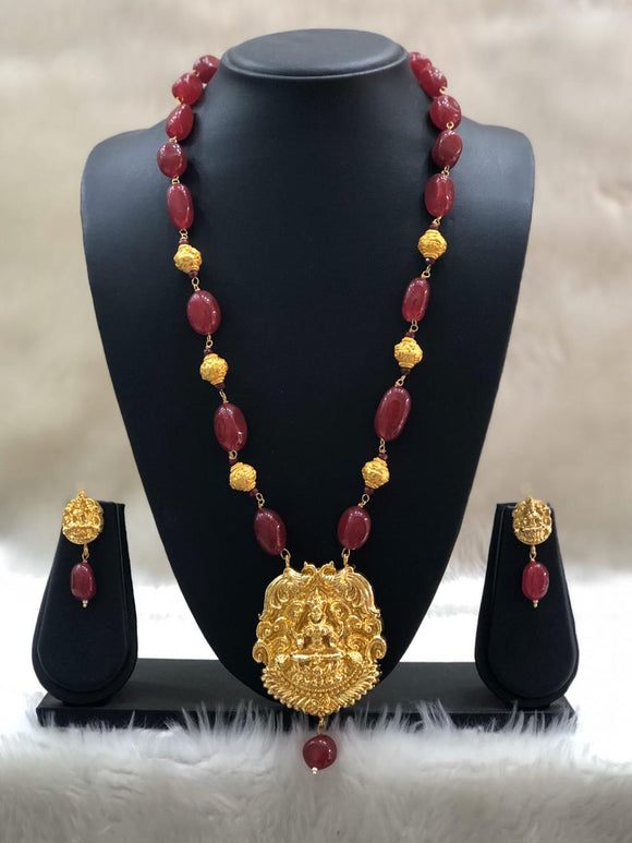 Blessed Lord Laxshmi Necklace Set