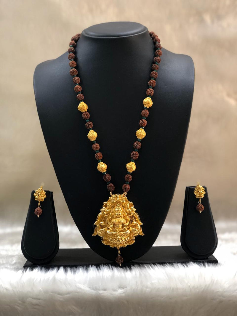 Traditional Rudraksha Laksmi Necklace Set