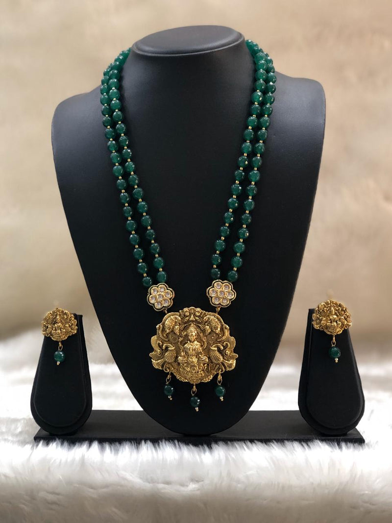 Two layered Laxmi Necklace Set