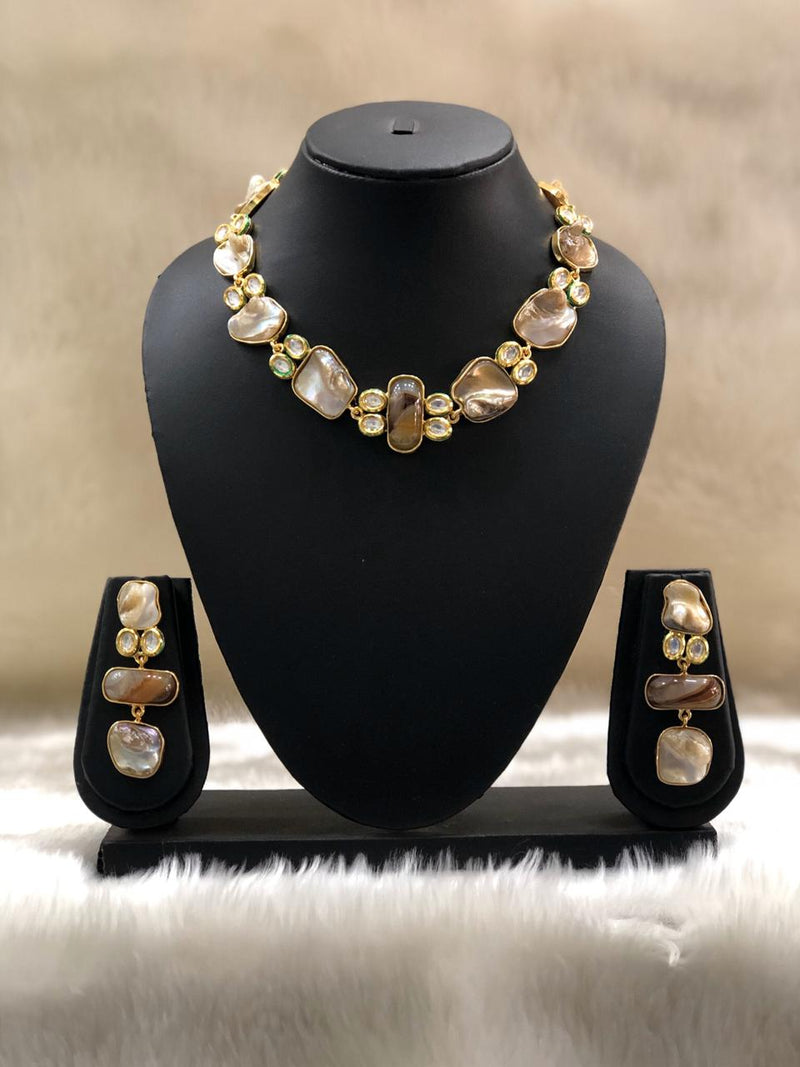 Adornment Mother of Pearl Necklace Set