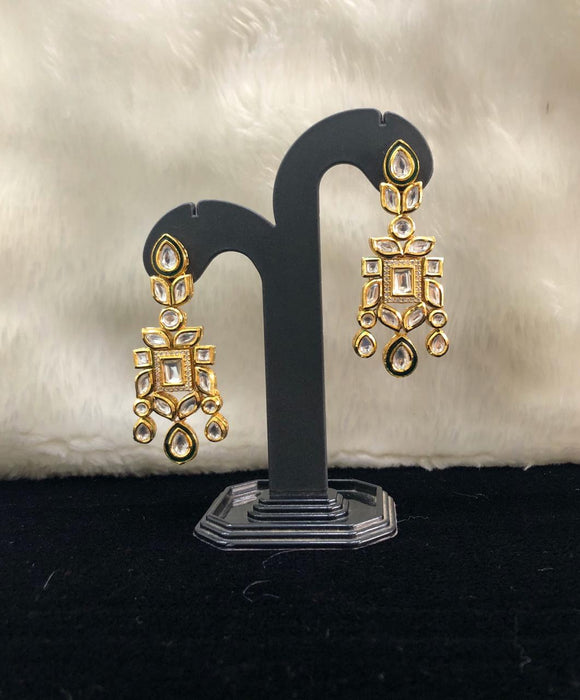 Bejeweled  Decorative  Kundan Earrings