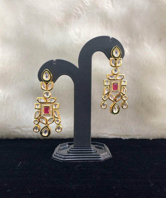 Bejeweled  Ruby Kundan Earrings