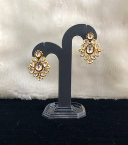 Eye Drop Kundan  Enchriched Stud Earrings