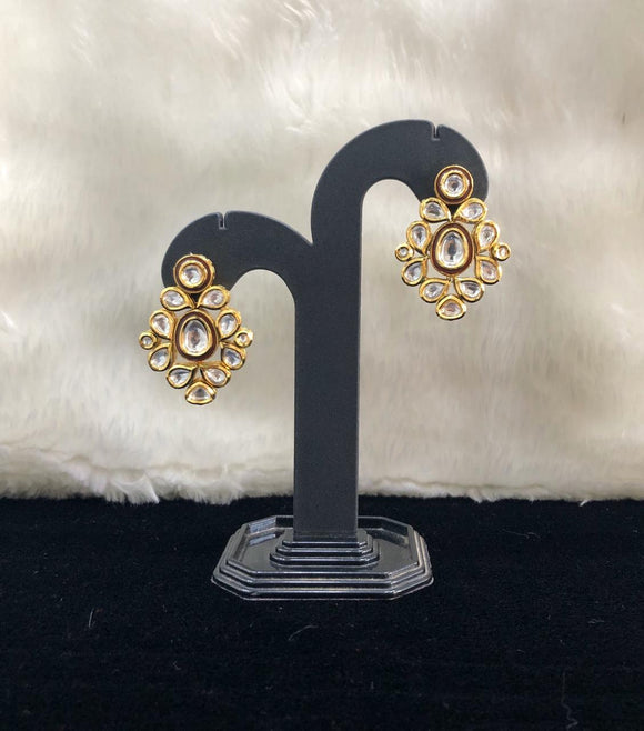Vintage Empired Kundan Earrings