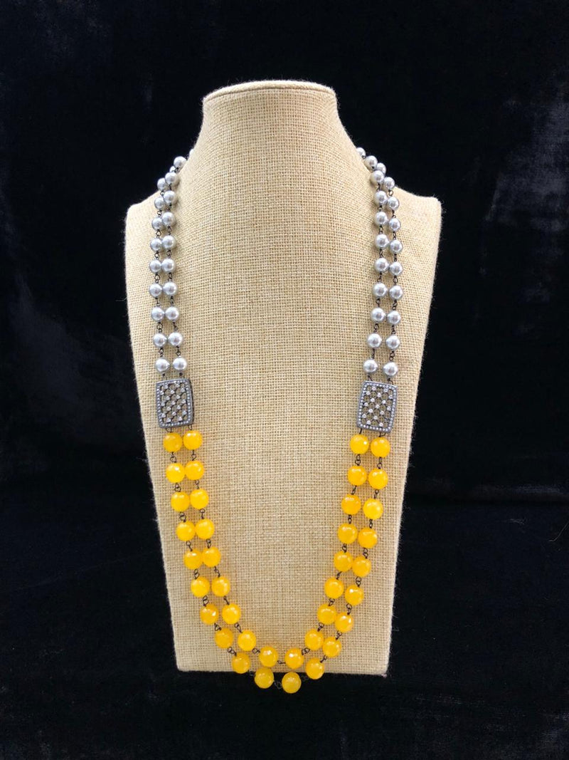Astonishing Shades of Yellow Gemstone Necklace
