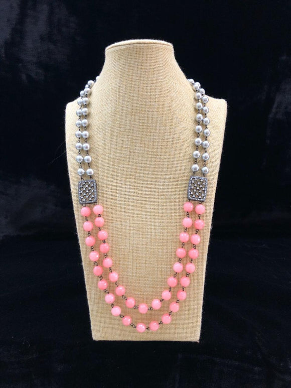 Astonishing Shades of Lemonade Pink  Gemstone Necklace