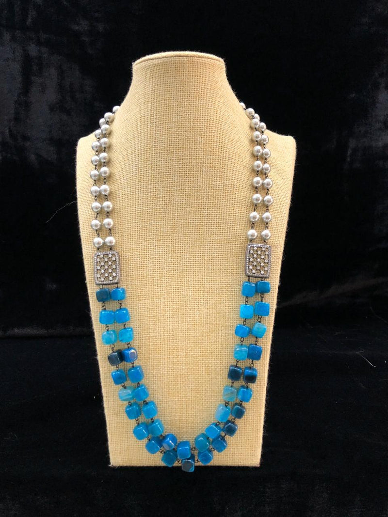 Astonishing Shades of Blue Gemstone Necklace