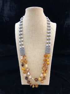 Astonishing Tortilla Brown Gemstone Necklace