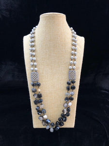 Astonishing Black Gemstone Necklace