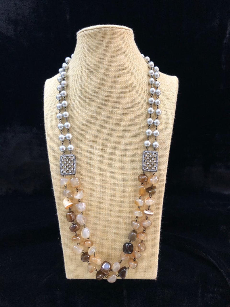 Astonishing Brown Gemstone Necklace