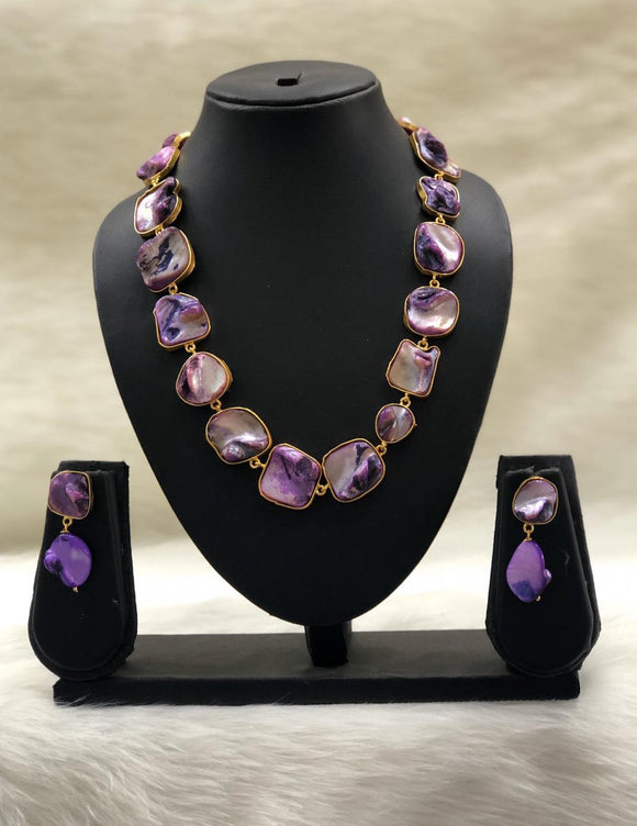 Garden of Gems Purple Necklace Set