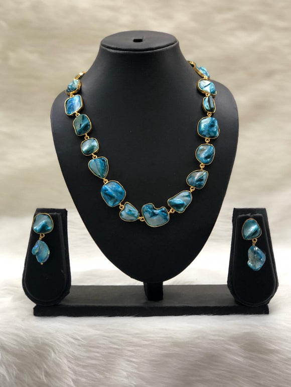 Garden of Gems Blue Necklace Set