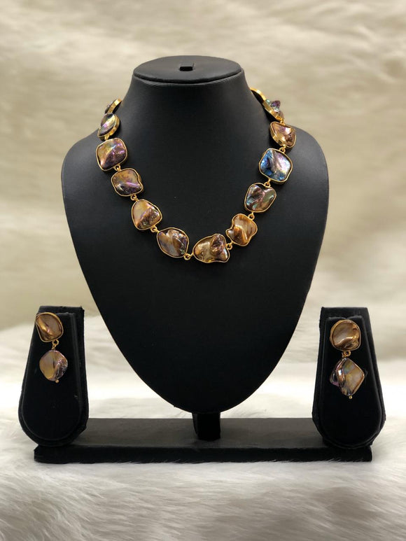 Garden of Gems Brown Necklace Set