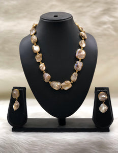 Garden of Gems White Necklace Set