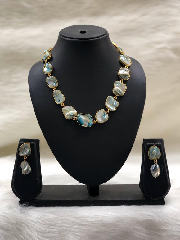 Garden of Gems Sky Blue Necklace Set