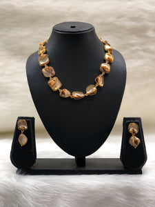 Garden of Gems Light Brown Necklace Set