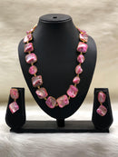 Preamble Pink Gemstone Necklace Set