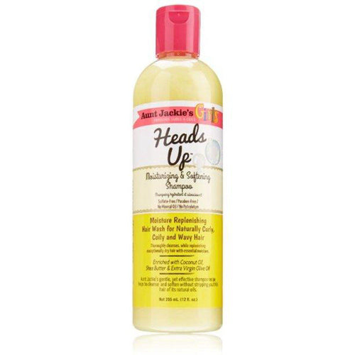AUNT JACKIE'S GIRLS HEADS UP MOISTURIZING & SOFTENING SHAMPOO 12OZ-HAIR CARE-Darling Hair USA