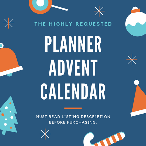 Planner Advent Calendar 2019 Presale - NO COUPONS