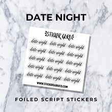 New Year's Day // Gold Foiled Weekly Sticker Kit