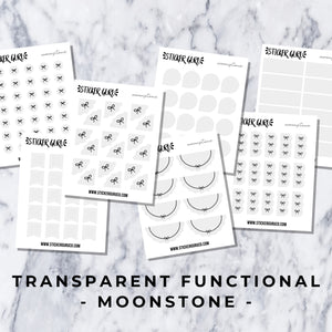 Moonstone // Transparent Functional Stickers