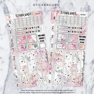 Blush // Gold Foil Hobonichi Weeks Sticker Kit